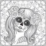 Porträt eines jungen schönen Mädchens in Halloween oder im Tag des Des Stockfoto