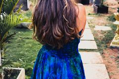 Porträt eines junges Mädchen Ñ  herrlichen Haares, gesunder Lebensstil und Stockbild