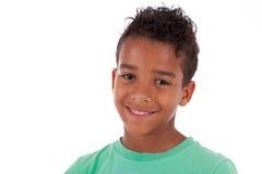 Porträt eines kleinen Jungen des netten Afroamerikaners Lizenzfreie Stockfotografie