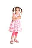 Porträt eines kleinen Mädchens lizenzfreies stockbild