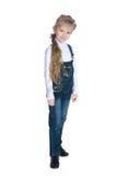 Porträt eines kleinen Mädchens der Mode lizenzfreies stockfoto