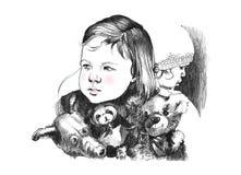 Porträt eines Kleinkindmädchens Stockbild