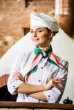 Porträt eines Kochs Stockbild