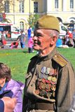 Porträt eines Kriegsveteranen Stockfotos