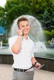 Porträt eines lächelnden Geschäftsmannes Lizenzfreie Stockfotografie