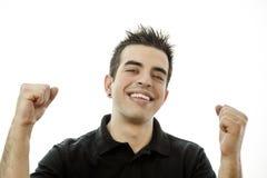 Porträt eines lächelnden glücklichen jungen Mannes Lizenzfreie Stockfotografie