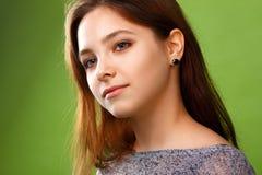 Porträt eines lächelnden Mädchens Stockfotografie