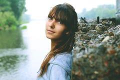 Porträt eines Mädchenbrustporträts Lizenzfreie Stockfotos