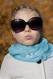 Porträt eines Mädchenherbsttages Lizenzfreies Stockfoto