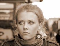 Porträt eines Mädchens Stockfotografie