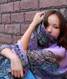Porträt eines Mädchens Stockbild