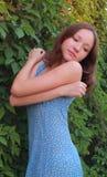 Porträt eines Mädchens auf der Natur Stockfotos