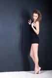 Porträt eines Mädchens im vollen Wachstum Stockfotos