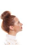 Porträt eines Mädchens mit einer klaren Haut in einem hohen Schlüssel Stockfoto