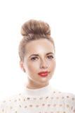 Porträt eines Mädchens mit einer sauberen Haut in einem hohen Schlüssel Lizenzfreie Stockbilder