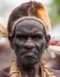 Porträt eines Mann Asmat-Stammes stockbilder