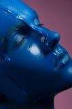Porträt eines Mann gegossenen Blaus Lizenzfreie Stockfotos