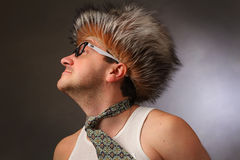 Porträt eines Mannes in einem Zauberhut Lizenzfreie Stockfotos