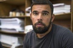 Porträt eines Mannes mit einem Bart Lizenzfreies Stockbild