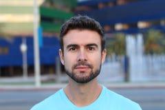 Porträt eines Mannes mit einem Bart draußen Lizenzfreie Stockfotografie