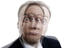 Porträt eines Mannes mit einer Geisteskrankheit Lizenzfreie Stockfotografie