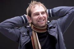 Porträt eines Mannes mit Jacke Lizenzfreies Stockbild