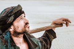 Porträt eines Mannes in seinem Turban Stockfotos