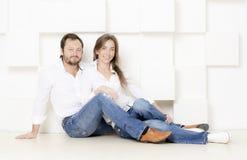 Porträt eines Mannes und der Frau stockfotos