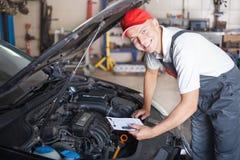 Porträt eines Mechanikers Lizenzfreie Stockbilder