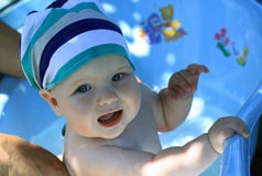 Porträt eines 10-Monats-Babys Stockfotos