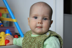 Porträt eines 10-Monats-Babys Lizenzfreie Stockfotos