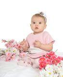 Porträt eines netten Babys lizenzfreie stockfotografie
