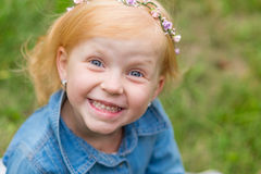 Porträt eines netten kleinen Pin-up-Girl Stockbild