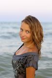 Porträt eines netten Mädchens Stockfotos