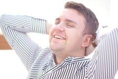 Porträt eines reifen Geschäftsmannes bei der Entspannung Lizenzfreies Stockbild