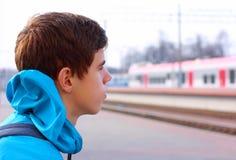 Porträt eines Reisenden lizenzfreies stockbild
