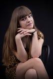 Porträt eines reizend jungen Mädchens Lizenzfreie Stockfotos