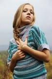 Porträt eines russischen schönen Mädchens Stockbilder