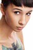 Porträt eines schönen jungen Mädchens Stockbilder