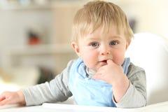 Porträt eines schönen Kindes, das Sie betrachtet Stockfoto