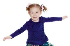 Porträt eines schönen kleinen Mädchens Lizenzfreies Stockbild