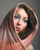 Porträt eines schönen Mädchengesichtes Stockfoto
