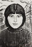 Porträt eines schönen Mädchens Lizenzfreie Stockbilder