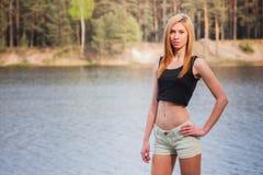 Porträt eines schönen Mädchens Lizenzfreie Stockfotografie