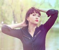 Porträt eines schönen Mädchens Lizenzfreie Stockfotos