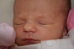 Porträt eines schlafenden Babys Stockbild
