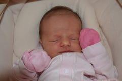 Porträt eines schlafenden Babys Lizenzfreie Stockfotos