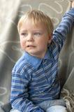 Porträt eines schreienden Kindes Stockfoto
