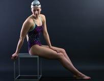 Porträt eines Schwimmers Stockbild