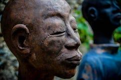 Porträt eines Skulptur buddist Stockfotografie